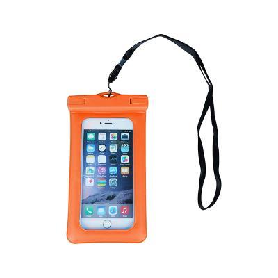 """Waterproof Mobile Phone Case 4.5""""- 5.5"""" Orange"""