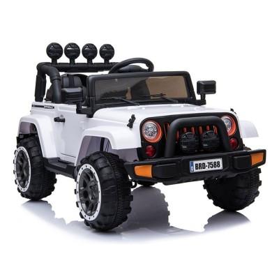 Electric Car Jeep BRD-7588 12V White