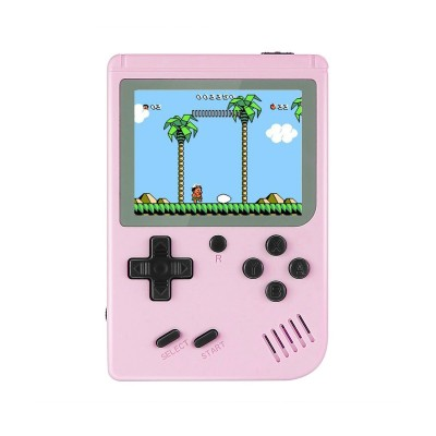 Classic Portable Console w/400 Jogos Pink
