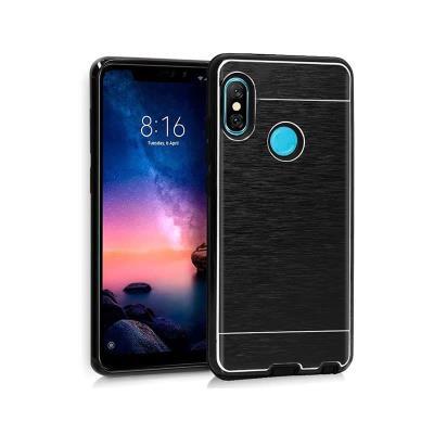Funda Silicona Premium Xiaomi Redmi Note 6 Pro Aluminio Negro