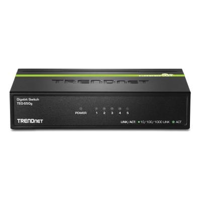 Switch TRENDnet 5 Ports 10/100/1000Mbps Black (TEG-S50G)