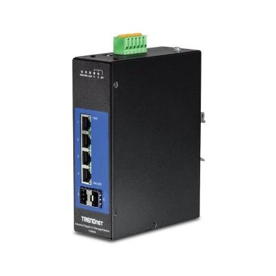 Switch TRENDnet 4 Ports 10/100/1000Mbps Black (TI-G642I)