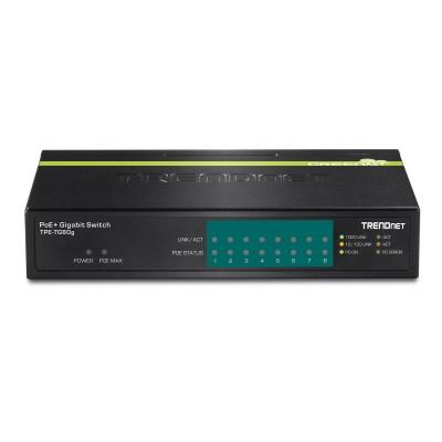 Switch TRENDnet 8 Ports 10/100/1000 Mbps PoE+ White (TPE-TG80G)