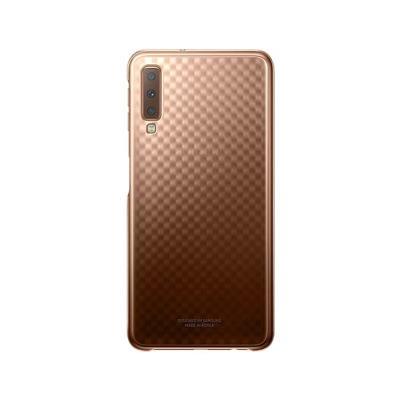 Capa Original Gradation Clear Cover EF-AA750CFE Samsung A7 2018 Dourada