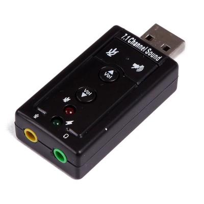 Placa de Som Externa Logilink UA0078 USB 7.1 Preta