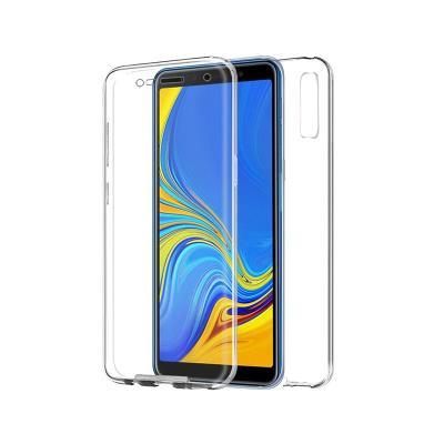 Silicone Frente e Verso Samsung A750 A7 2018 Transparente