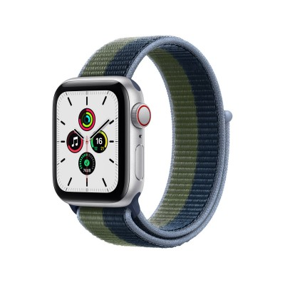 Smartwatch Apple Watch SE GPS + Cellular 40mm c/Bracelete Loop Desportiva Abyss Blue/Moss Green