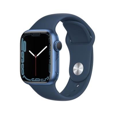 Smartwatch Apple Watch Series 7 GPS 41mm Blue Aluminum w/ Abyssal Blue Sport Bracelet
