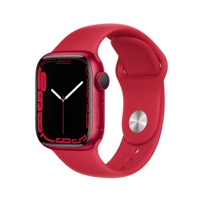 Smartwatch Apple Watch Series 7 GPS 41mm Aluminum (Product) Red w/ Sport Bracelet (Product) Red