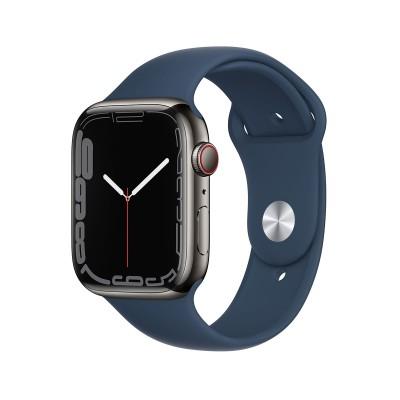 Smartwatch Apple Watch Series 7 GPS+Cellular 45mm Stainless Steel Graphite w/ Abyssal Blue Sport Bracelet
