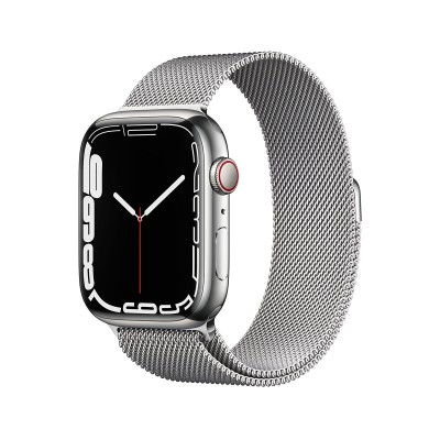 Smartwatch Apple Watch Series 7 GPS+Cellular 45mm Silver Stainless Steel w/ Milanese Loop Bracelet