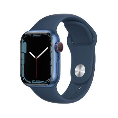 Smartwatch Apple Watch Series 7 GPS+Cellular 45mm Blue Aluminum w/ Abyssal Blue Sport Bracelet