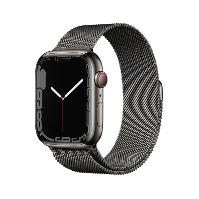 Smartwatch Apple Watch Serie 7 GPS + Cellular 45 mm Acero Inoxidable Grafito con Brazalete de Bucle Milanesa