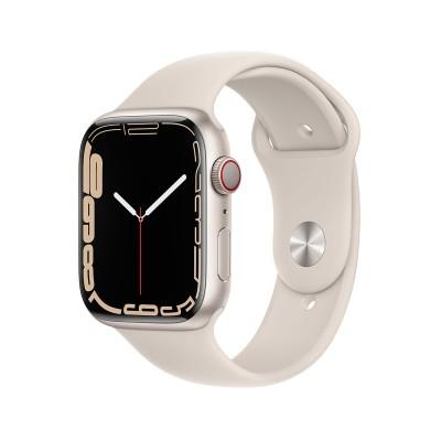 Smartwatch Apple Watch Series 7 GPS+Cellular 45mm Star Light Aluminum w/ Star Light Sport Bracelet