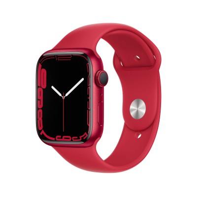 Smartwatch Apple Watch Series 7 GPS 45mm Aluminio (Producto) Rojo con Brazalete Deportivo (Producto) Rojo