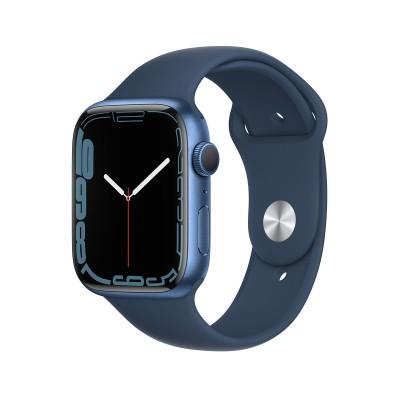 Smartwatch Apple Watch Series 7 GPS 45mm Blue Aluminum w/ Abyssal Blue Sport Bracelet