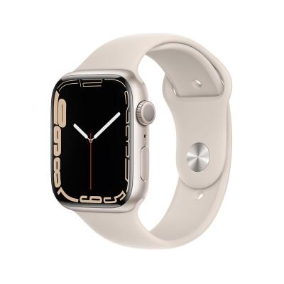 Smartwatch Apple Watch Series 7 GPS 45mm Starlight Aluminum w/ Starlight Sport Bracelet