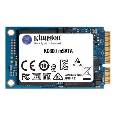 SSD Disk Kingston KC600 256GB mSATA 3D TLC