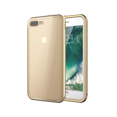 Capa Hard Okkes Super Slim iPhone 8 Plus Transparente/Bege