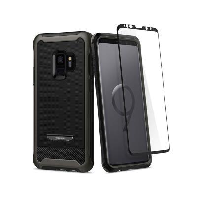 Funda Protective Case Samsung Spigen Galaxy S9 Gun Metal Negro (G960)