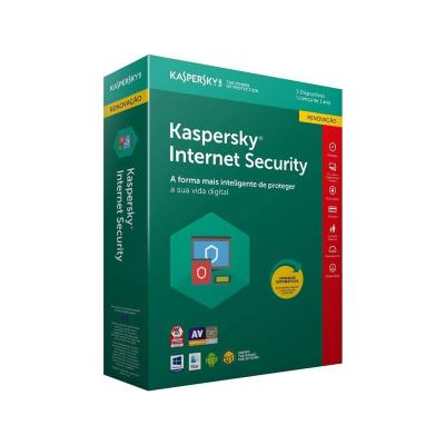 Antivírus Kaspersky Internet Security 2019 4 Users/1 Ano