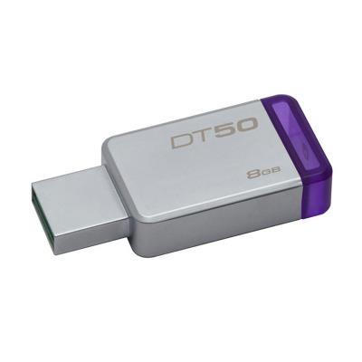 Pen Kingston DataTraveler 50 USB 3.0 Metal/Roxo