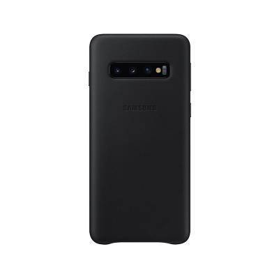 Capa de Pele Original Samsung Galaxy S10 Preta (EF-VG973LBE)