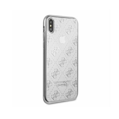 Silicone Cover Guess iPhone X Silver (GUHCPXTR4GSI)
