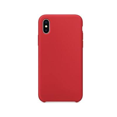 Capa Silicone Premium iPhone X/XS Vermelha