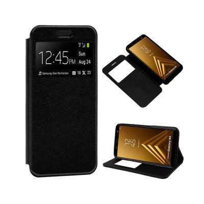 Funda Flip Cover Samsung A6 2018 A600 Negra