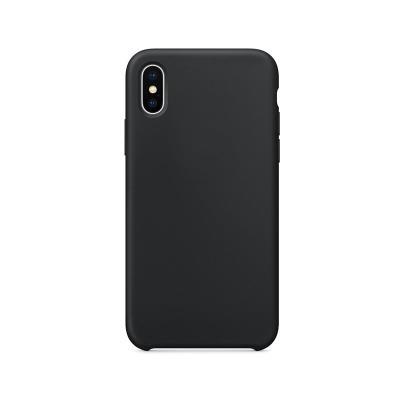 Funda Silicona Premium iPhone X/XS Negra