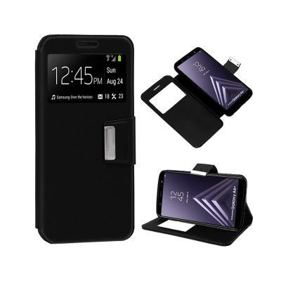 Funda Flip Cover Samsung A6 Plus A605 Negra
