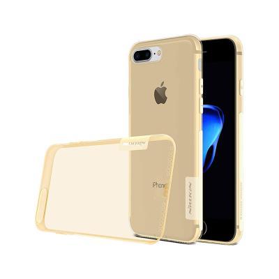Capa Silicone iPhone 7 Plus Transparente/Castanha