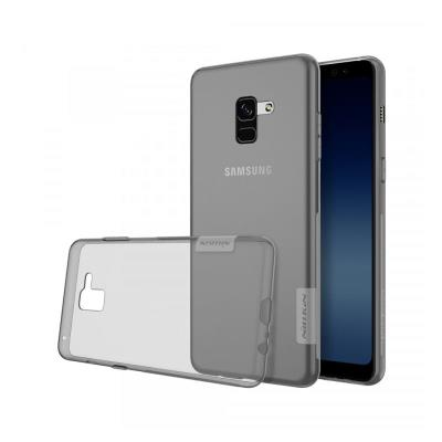Silicone Cover Nillkin Samsung A8 Plus A730 Transparent Dark