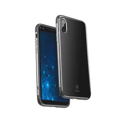 Funda Silicona Shockproof Baseus iPhone X Negra