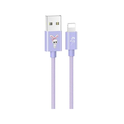 Cable Datos USAMS Lightning Púrpura