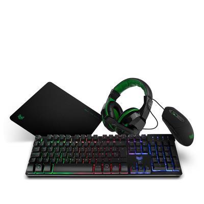 Conjunto BG X-4 Gaming Pack PT (BGX4PCKPT)