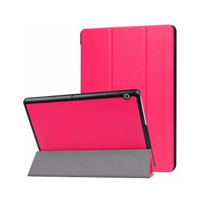 Capa Pele Huawei Media Pad T5 Premium Rosa