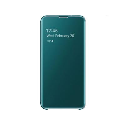Funda Clear View Original Samsung Galaxy S10e Verde (EF-ZG970CGE)